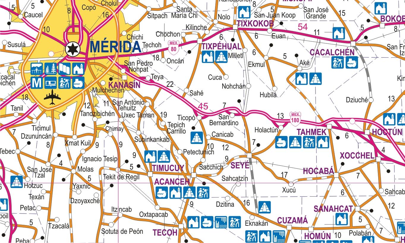 Yucatn  Mapas Independencia