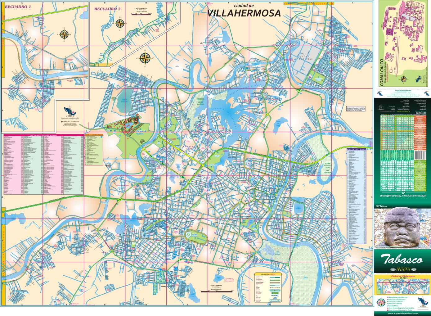 Tabasco mapas independencia for Casa de los azulejos villahermosa