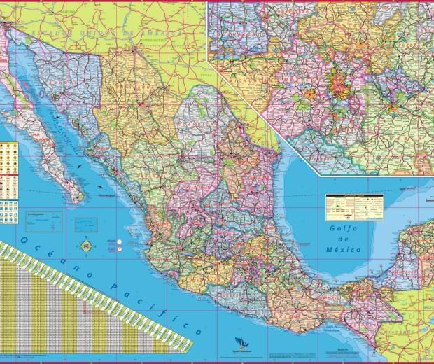 Republica Mexicana 90x125 cm