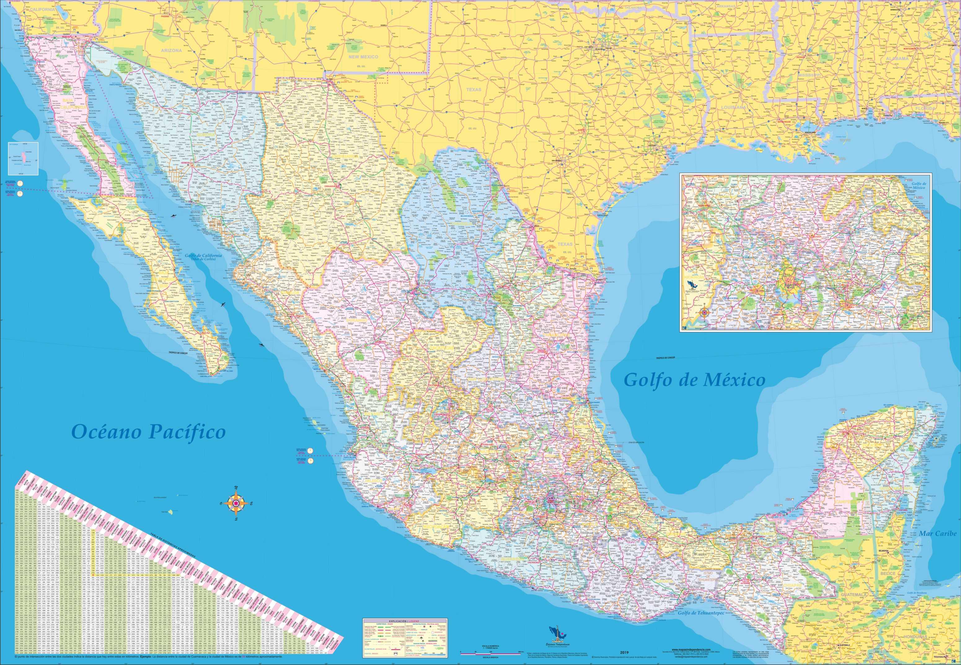 Mural República Mexicana 125178 Cm Mapas Independencia
