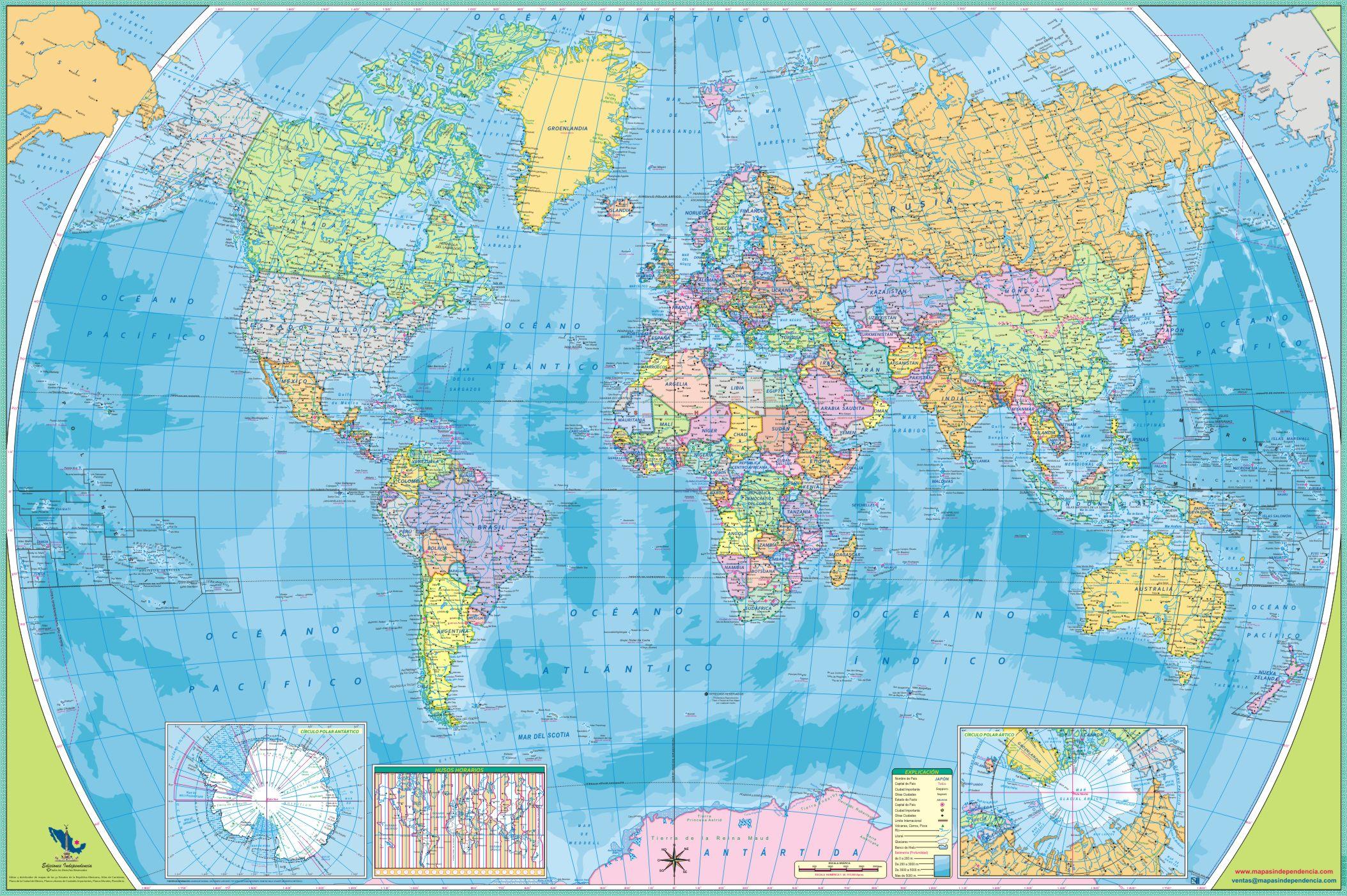 Planisferio : Mapas Independencia